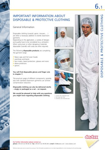 DISPOSABLE & PROTECTIVE CLOTHING