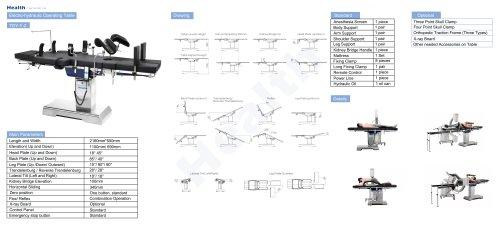 Catalog Electro-Hydraulic Operating Table TDY-Y-2