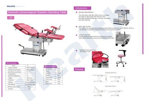 Catalog Hydraulic Gynecology Operation Table TF