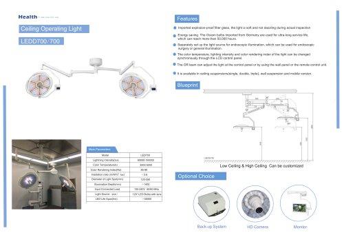 Catalog-LEDD700/700-Ceiling Operating Light