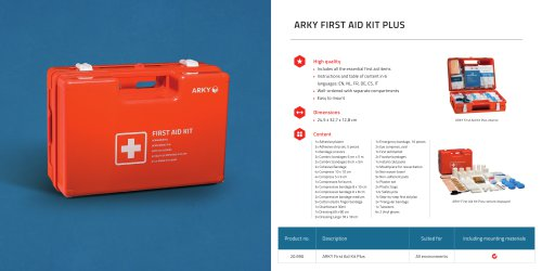 ARKY FIRST AID KIT PLUS