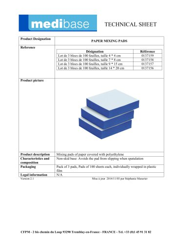PAPER MIXING PADS