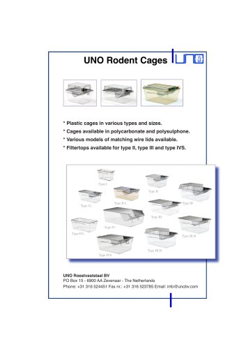 UNO Rodent Cages