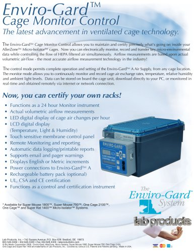 Cage Monitor Control Unit Brochure