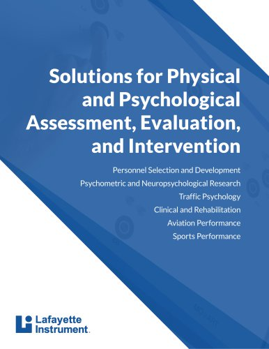 Solutions for Physical and Psychological Assessment, Evaluation, and Intervention