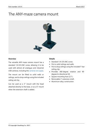 The ANY-maze camera mount