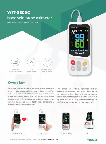 NEW WIT-S300 Handheld Pulse Oximeter