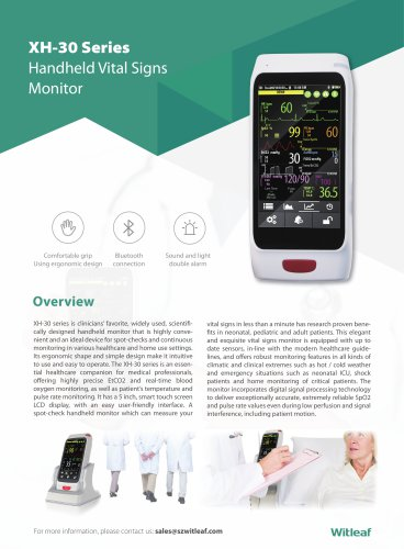 XH-30 Handheld Vital Signs Monitor