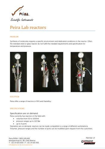 Peira Lab reactors
