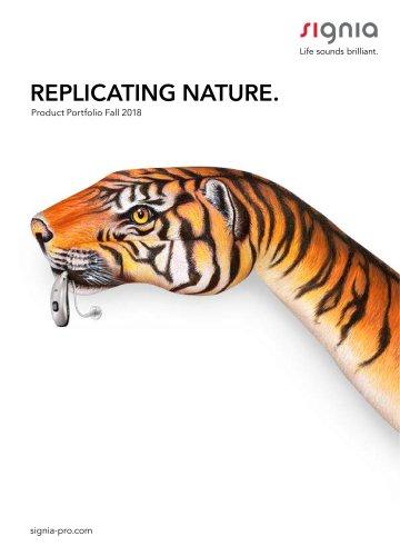 REPLICATING NATURE.  Product Portfolio Fall 2018