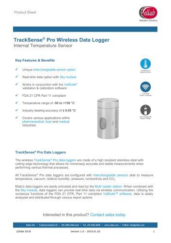 TrackSense® Pro Wireless Data Logger