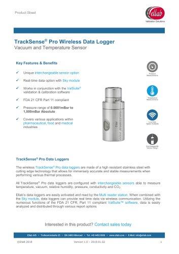 Vacuum and Temperature Sensor