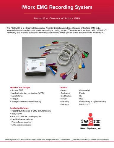 iWorx Four Channel EMG Recording System