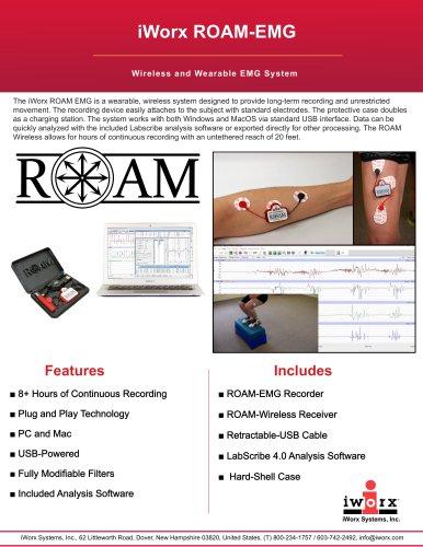iWorx ROAM Wireless and Wearable EMG System