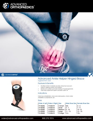 Advanced Ankle Helper Hinged Brace