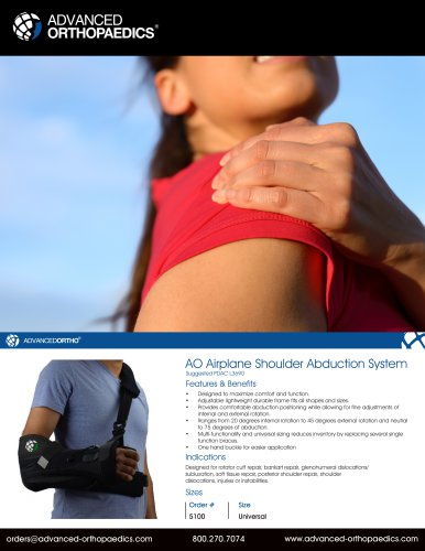 AO Airplane Shoulder Abduction System