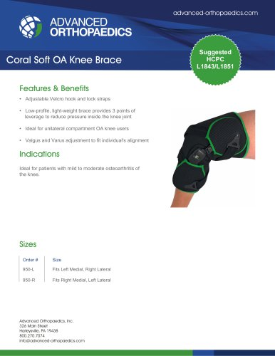Coral Soft OA Knee Brace