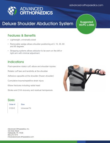 Deluxe Shoulder Abduction System