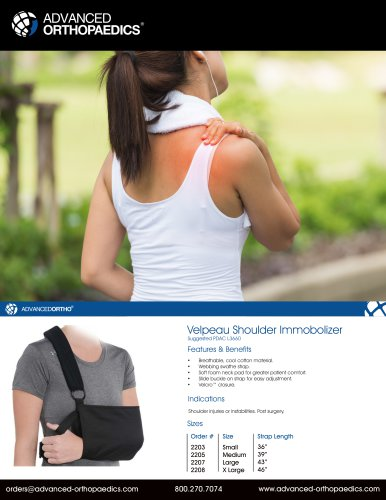Velpeau Shoulder Immobolizer