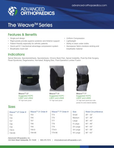 The WeaveTM Series