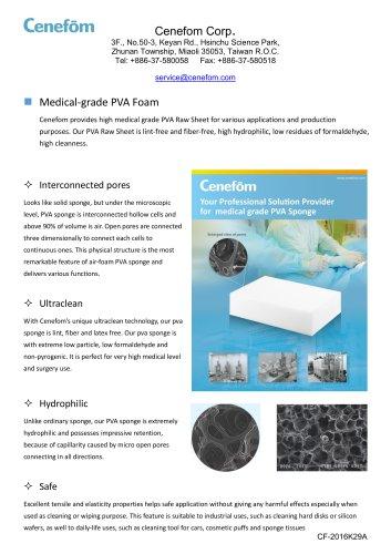 PVA Material & medical disposables