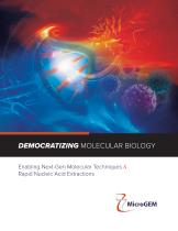 DEMOCRATIZING MOLECULAR BIOLOGY