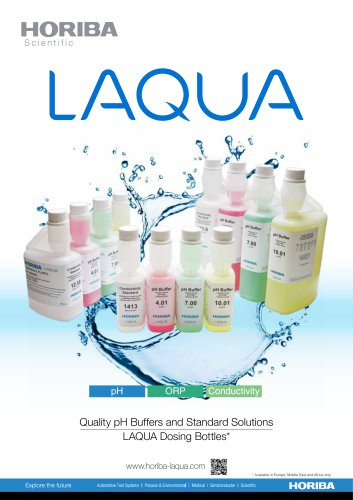 Quality pH Buffers and Standard Solutions