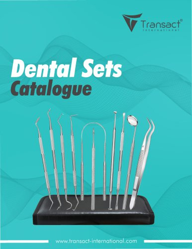Dental Instruments Sets Catalogue