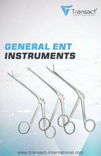 ENT Instruments Catalogue