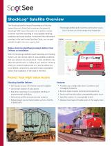 ShockLog Satellite Impact Monitor with real-time damage alerts and visualization on the SpotSee Cloud for the medical device supply chain