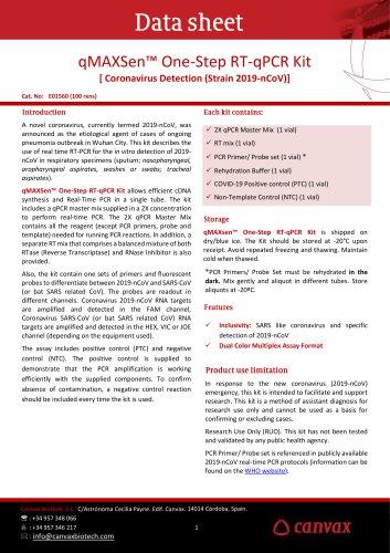 qMAXSen™ One-Step RT-qPCR Kit