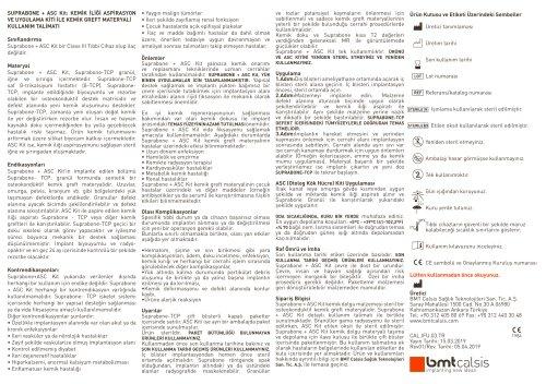 Data sheet for Suprabone ASC Kit (BMT Calsis)