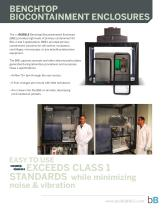 BENCHTOP BIOCONTAINMENT ENCLOSURES
