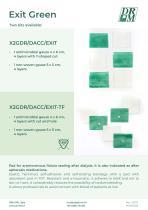 EXIT GREEN_kit with antimicrobial dressing - kit di medicazione con garza a captazione batterica
