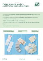 FISTULA PRESSING PLASTERS AND FISTULA PRESSING BANDAGES - CEROTTI E BENDE PREMIFISTOLA