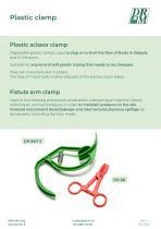 PLASTIC SCISSOR CLAMP and FISTULA ARM CLAMP - PINZA KLEMMER IN PLASTICA  E MOLLA PREMIFISTOLA