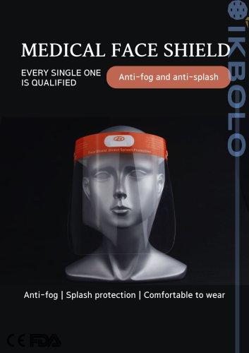 anti-fog coating face-shield / anti-static / reusable