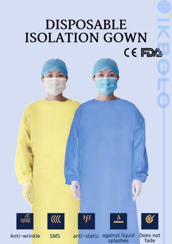 Disposable isolation gown Level2