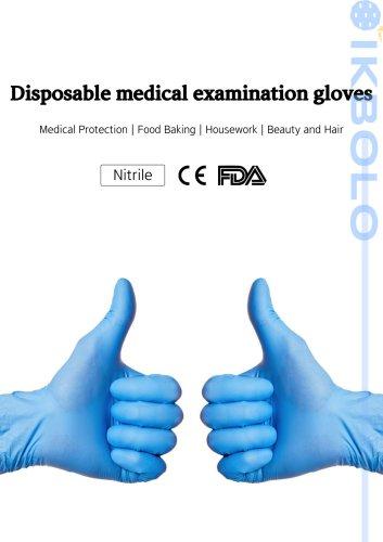 nitrile gloves / medical / PVC / powder-free