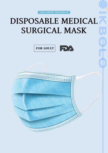 non-woven surgical mask / type II / disposable / 3-ply