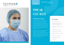 Type IIR Face Mask Product Information