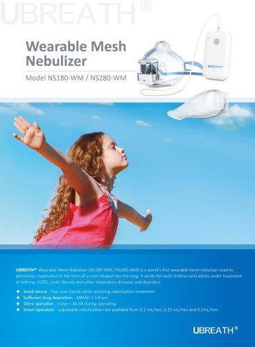 UBREATH Wearable Mesh Nebulizer