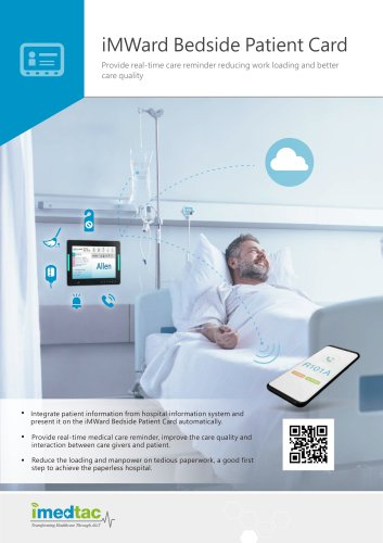 iMWard Bedside Patient Card