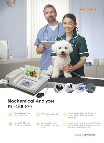 PE-168 Semi auto biochemistry analyzer, pets chemistry