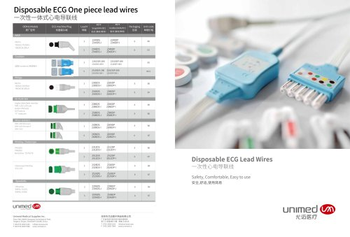 Unimed Disposable ECG Lead Wires