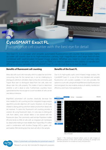 Fluorescence cell counter features - Exact FL