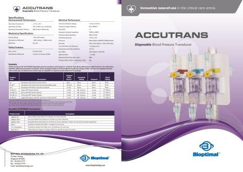 Bioptimal Accutrans Disposable Transducer