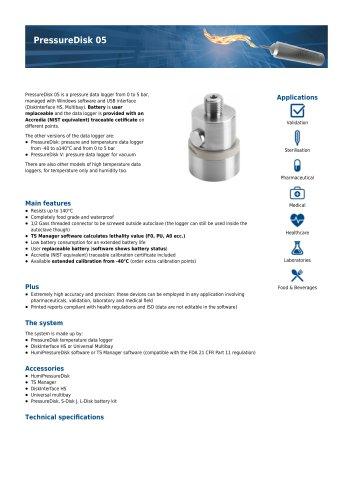 PressureDisk 05 data sheet