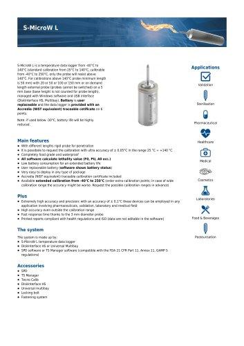 S-MicroW L data sheet