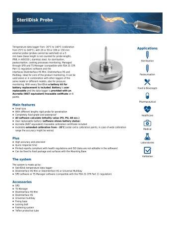 SterilDisk Probe data sheet
